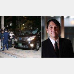 保釈後に迎えの車に乗り込み東京湾岸署をあとにしたピエール瀧被告(C)日刊ゲンダイ