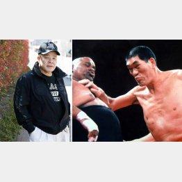 全日本プロレス名誉レフェリーの和田京平さん(右はジャイアント馬場とアブドーラ・ザ・ブッチャー)/(C)日刊ゲンダイ