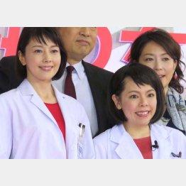 沢口靖子(左)とメルヘン須長