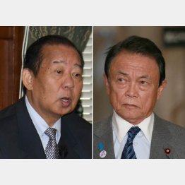 二階幹事長と麻生財務相(C)日刊ゲンダイ
