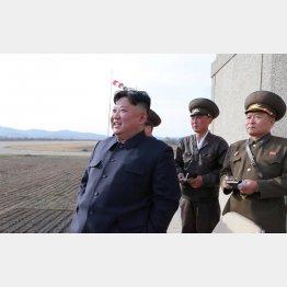 実験を視察した金正恩委員長(C)ロイター/朝鮮通信