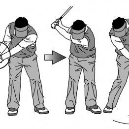 テークバックは手首が「親指付け根側」に折れるように