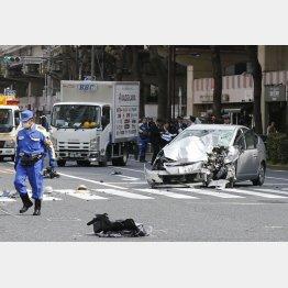 事故が起きた東京・池袋の現場(C)日刊ゲンダイ