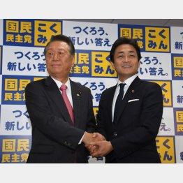 自由党・小沢代表(左)と国民民主党・玉木代表(C)日刊ゲンダイ