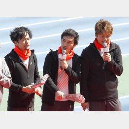 (左から)ジャニーズからの独立組の稲垣吾郎、草彅剛、香取慎吾の3人(C)日刊ゲンダイ
