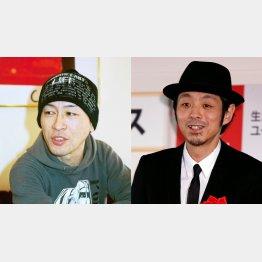 故・遠藤ミチロウさん(左)と脚本家の宮藤官九郎(C)日刊ゲンダイ