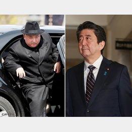 金正恩・朝鮮労働党委員長(左)と安倍首相(C)日刊ゲンダイ