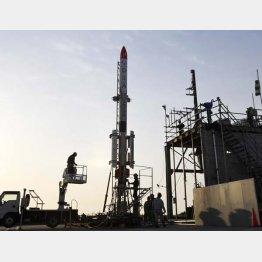 インターステラテクノロジズの小型ロケット「MOMO」3号機(C)共同通信社