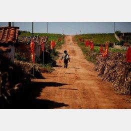 11年9月に起きた洪水地帯を歩く子供(C)ロイター