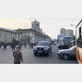 平壌駅前(撮影:筆者)