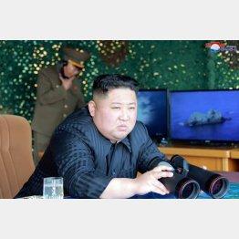 軍事訓練を視察する北朝鮮の金正恩朝鮮労働党委員長(C)ロイター/ KCNA