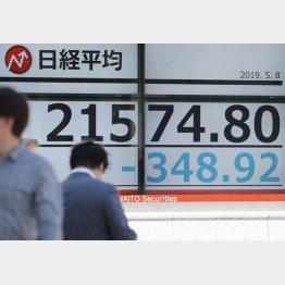 8日午前の日経平均株価(C)日刊ゲンダイ