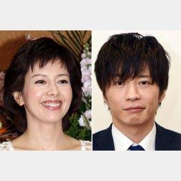 沢口靖子と田中圭(C)日刊ゲンダイ
