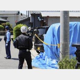 麗輝さんの遺体が見つかった現場(C)共同通信社