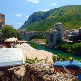 ボスニア「スタリ・モスト橋」のアーチは絵はがきみたい