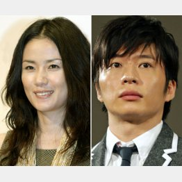 原田知世(左)と田中圭(C)日刊ゲンダイ