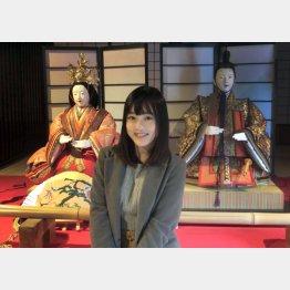 「太田家住宅」のひな人形展・取材風景(由良朱合)/(C)日刊ゲンダイ