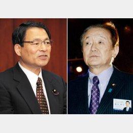 郡司彰参院副議長(左)と藤田幸久議員(C)日刊ゲンダイ