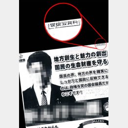 選挙区内に広く配られた(C)日刊ゲンダイ
