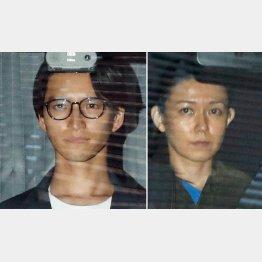 田口淳之介容疑者(左)と小嶺麗奈容疑者(C)日刊ゲンダイ