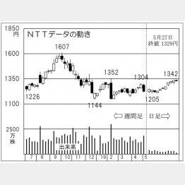 NTTデータ(C)日刊ゲンダイ