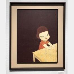 いまや人気絶頂の奈良美智氏の作品も安く購入できる時代があった(あるオークション会場で)/(C)日刊ゲンダイ