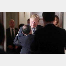 トランプ大統領は来日初日に日本のビジネスリーダーと交流(C)ロイター