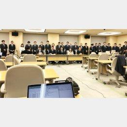 記者席はガラガラ(統一地方選予定候補者会見)(C)日刊ゲンダイ