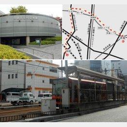 田端文士村記念館(左上)、都電荒川線(下)/(C)日刊ゲンダイ