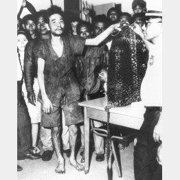 1972年、終戦27年後に発見された当時の横井庄一さん。「恥ずかしながら生きながらえ、帰ってまいりました」と羽田空港で第一声を。(C)共同通信社