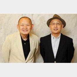 林家正楽(左)と吉川潮氏(C)日刊ゲンダイ