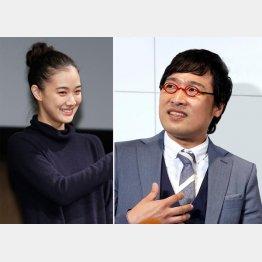蒼井優(左)と山里亮太(C)日刊ゲンダイ