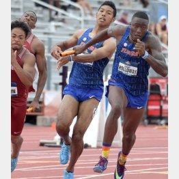 陸上の全米大学選手権 ・男子400㍍リレー準決勝に出場したサニブラウン(C)ロイター/USA TODAY Sports