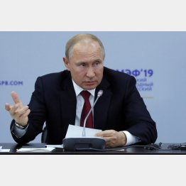 プーチン露大統領は態度をどんどん硬化(C)ロイター