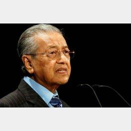「アジアの未来」で講演するマレーシアのマハティール首相(C)ロイター