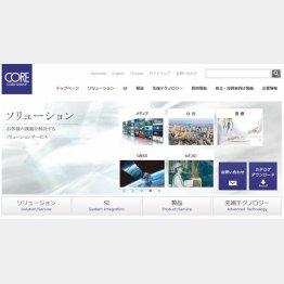 株式会社コアのホームページ