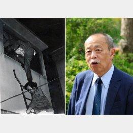 """元麻薬取締官(マトリ)の高濱良次さん。左は、麻薬組織への""""ガサ入れ""""の場面で下が本人/(C)日刊ゲンダイ"""