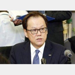 みずほフィナンシャルグループの坂井辰史社長(C)共同通信社