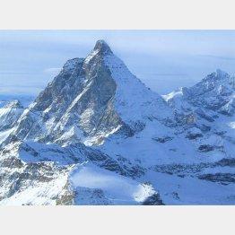 スイスとイタリアの国境にそびえるマッターホルン(撮影・歩りえこ)