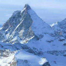 雪化粧したスイス「マッターホルン」を大迫力のまま収める