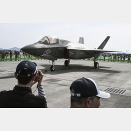F35Bは垂直着陸が可能(C)共同通信社