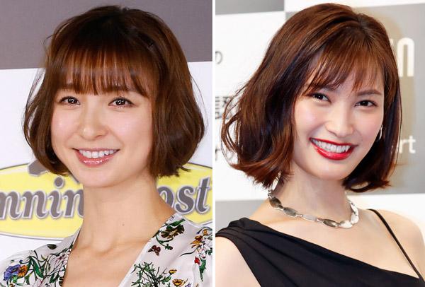 篠田麻里子(左)と大政絢(C)日刊ゲンダイ