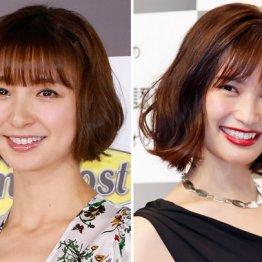 篠田麻里子(左)と大政絢