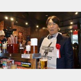ニューヨークで松井秀喜氏も「いきなり!ステーキ」のイベントに参加していた(C)共同通信社