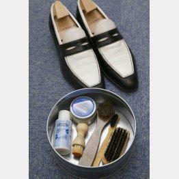 毎日靴を履く前に簡単にシューケアを(C)日刊ゲンダイ