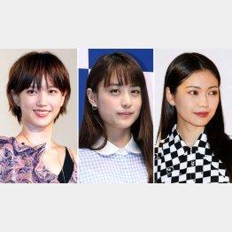 (左から)本田翼、山本美月、二階堂ふみ(C)日刊ゲンダイ