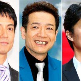 (左から)沢村一樹、田原俊彦、福山雅治