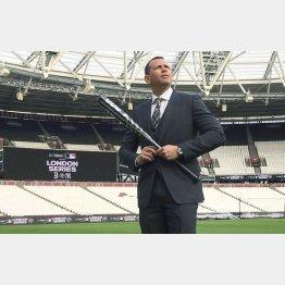 ロンドンスタジアムでポーズを取るA・ロッド(C)ロイター