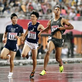 """サニブラウンは""""雨男"""" 100m日本記録更新の敵はむしろ風"""