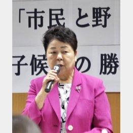 衆院4期のベテラン(中林佳子氏)(C)共同通信社